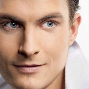 male face closeup