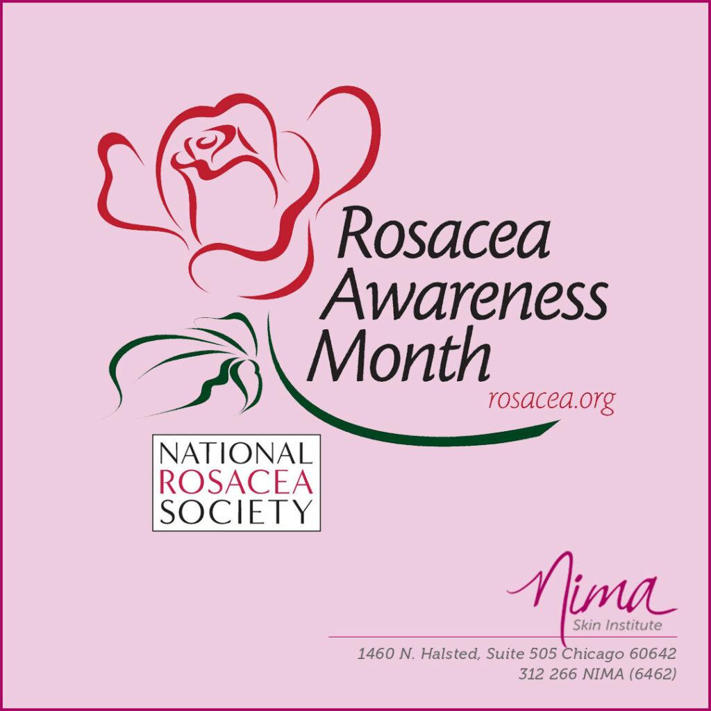 Rosacea Awareness Month logo