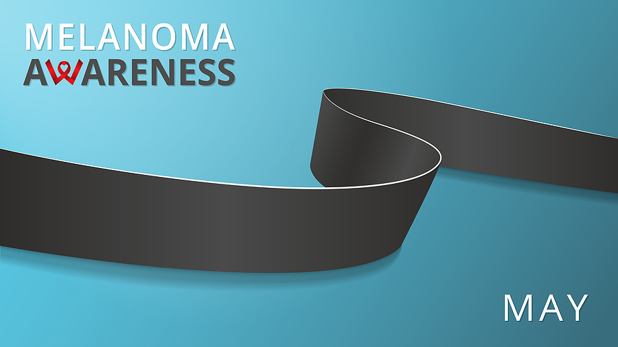 May is Melanoma Awareness Month graphic.